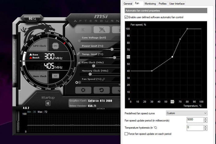 step-up the GPU Temperature